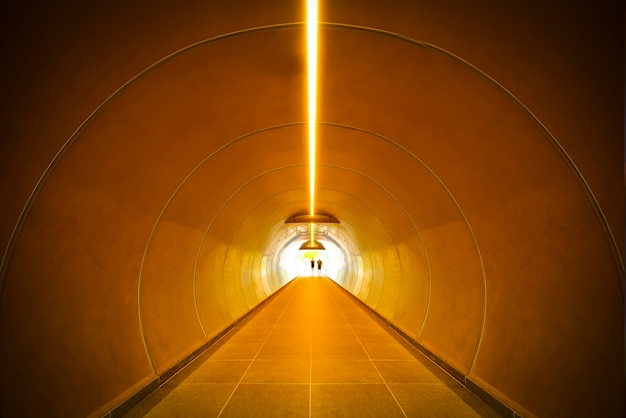 Abstract background. construction tunnel perspective. Premium Photo