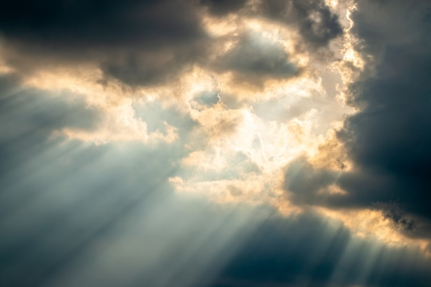 Abstract background, dark and stormy clouds. Premium Photo