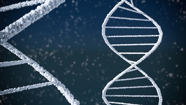 Abstract background of dna structure helix Premium Photo