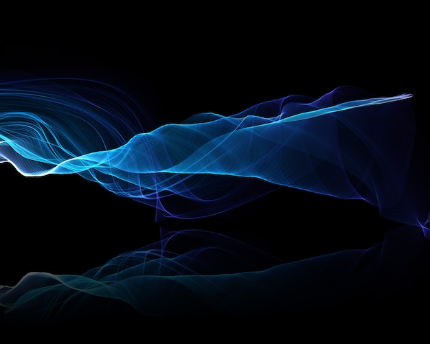 Abstract background of electric blue flowing waves Free Photo