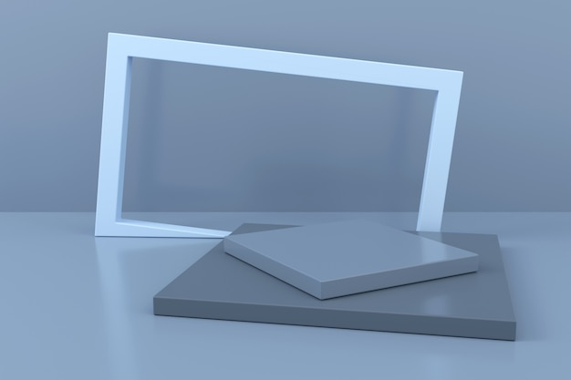 Abstract background of geometric shape. 3d rendering. Premium Photo