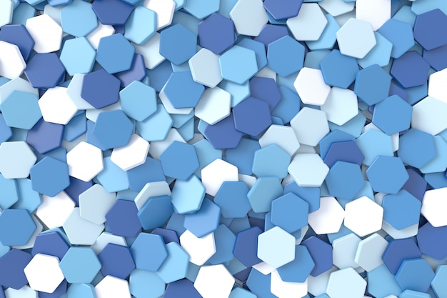 Abstract background of hexagon shape. 3d rendering. Premium Photo