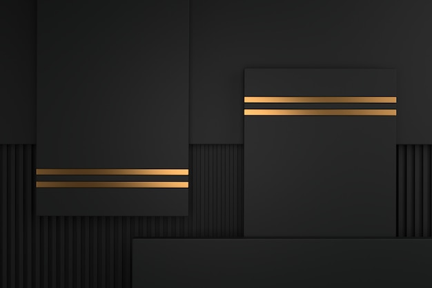 Abstract background of metallic with luxury concepts. 3d rendering. Premium Photo