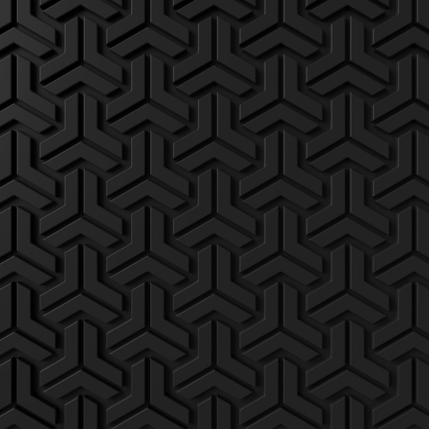 Abstract background of modern tile wall. 3d rendering. Premium Photo