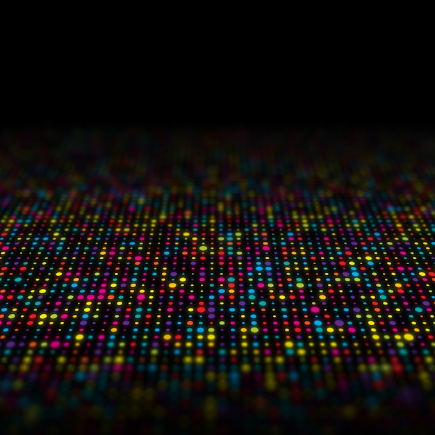 Abstract background of multi coloured techno dots Free Photo