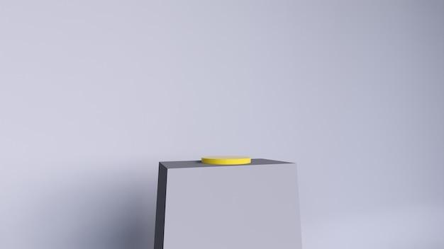 抽象的な背景、製品表示のシーン。 3dレンダリング Premium写真