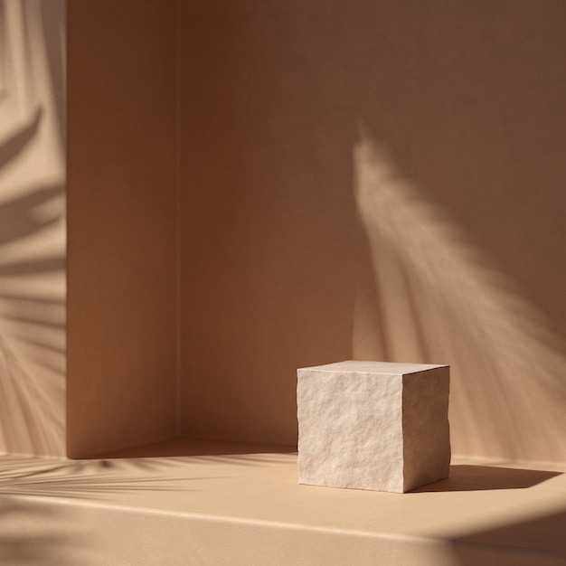 Abstract background scene for product display. 3d rendering Premium Photo