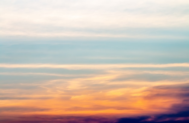 Abstract background, scenery of dramatic sky in evening. Premium Photo