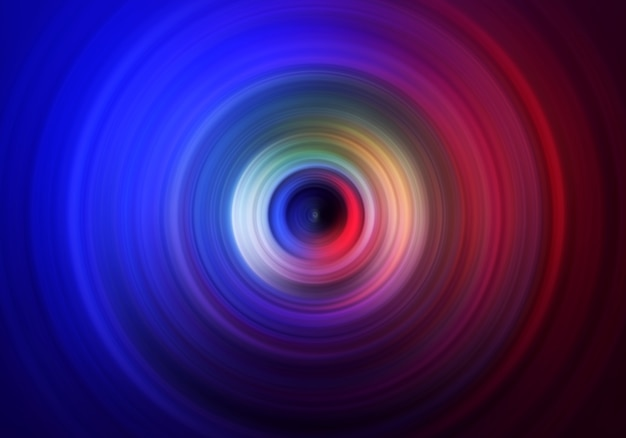 Abstract background of a spinning color circle. Premium Photo