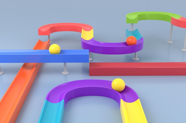 Abstract background of toy. 3d rendering. Premium Photo
