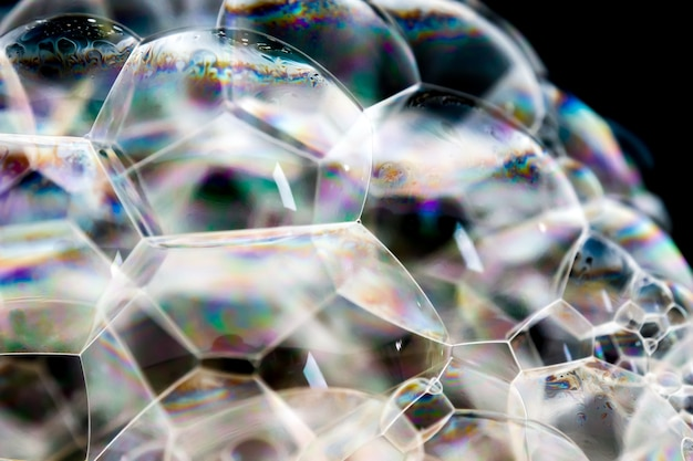 Abstract background white soapy foam texture. shampoo foam with bubbles Premium Photo