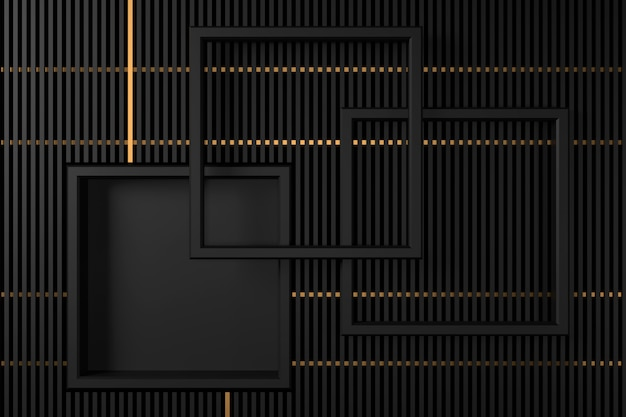 Abstract background with darkness concepts. 3d rendering. Premium Photo