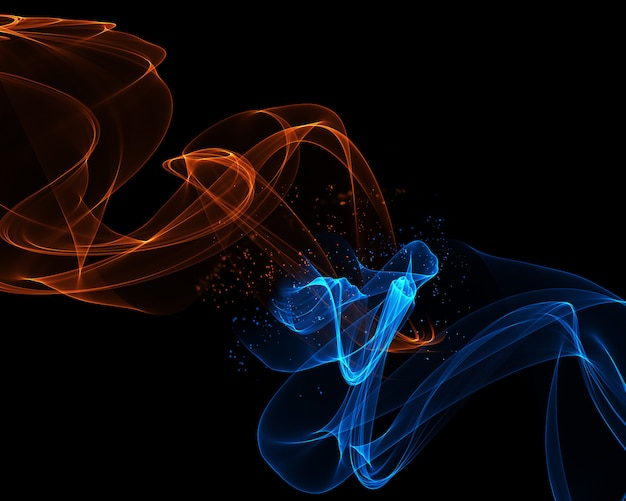 Abstract Background With Flowing Lines In Fire And Ice