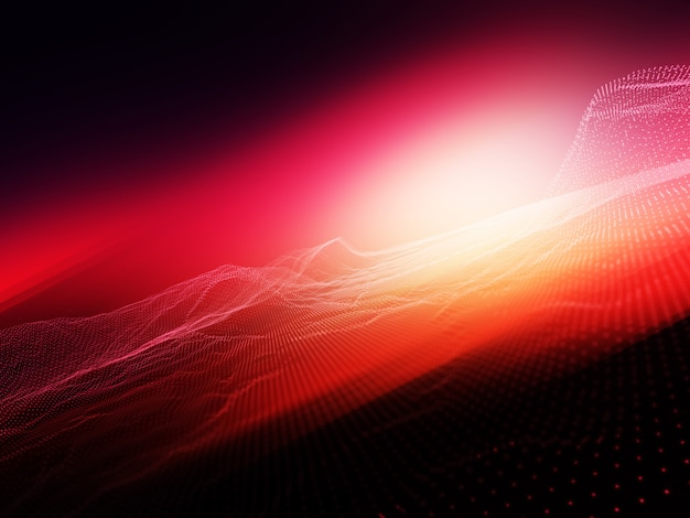 Abstract background with flowing particle dots against bright blurred background Free Photo