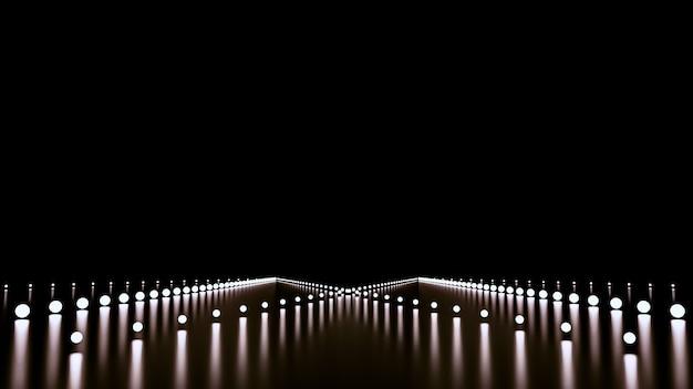 輝きと道路と抽象的な背景。 Premium写真