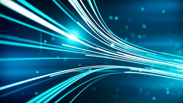 Abstract background with lines for fiber optic Premium Photo