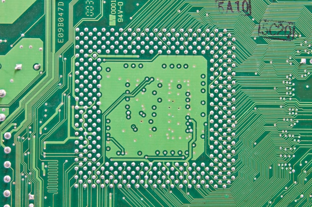 abstract background with old computer circuit board premium photo