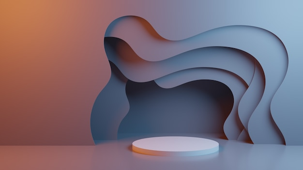 Abstract background with stage Premium Photo