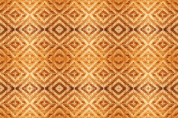 Abstract bamboo woven pattern texture for seamless background. Premium Photo