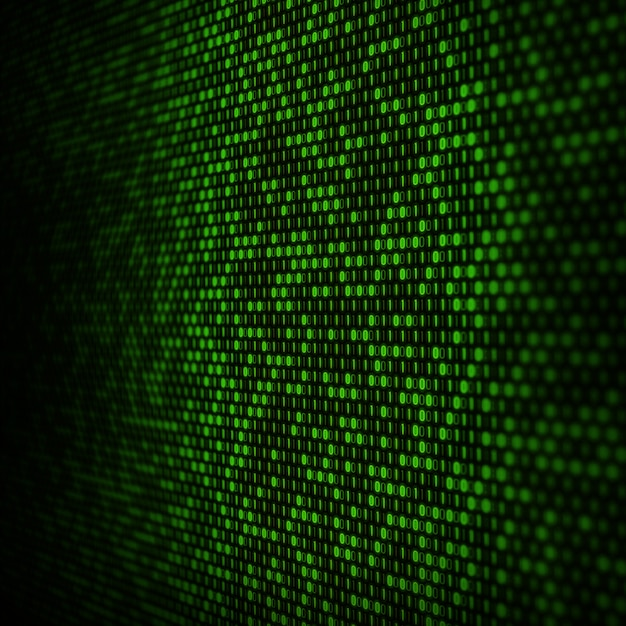 Abstract binary code background Free Photo