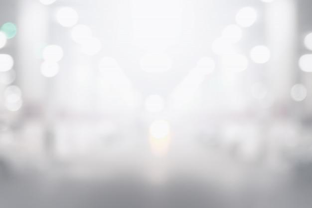 抽象的な黒と白のボケの背景 Premium写真