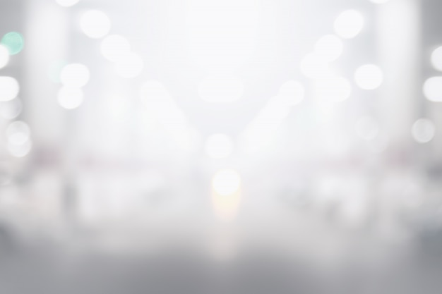Abstract black and white bokeh background Premium Photo
