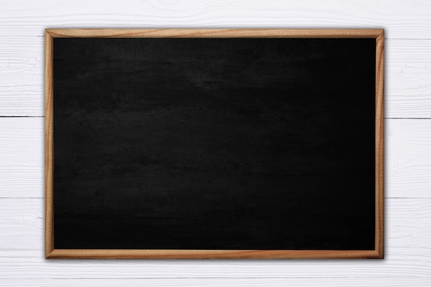 Abstract blackboard or chalkboard with wooden frame Premium Photo