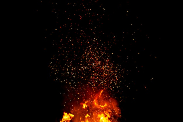 Abstract blaze fire flames texture background Premium Photo