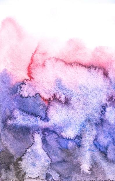 Абстрактные синие и красные акварельные обои, ручная краска на бумаге. Premium Фотографии