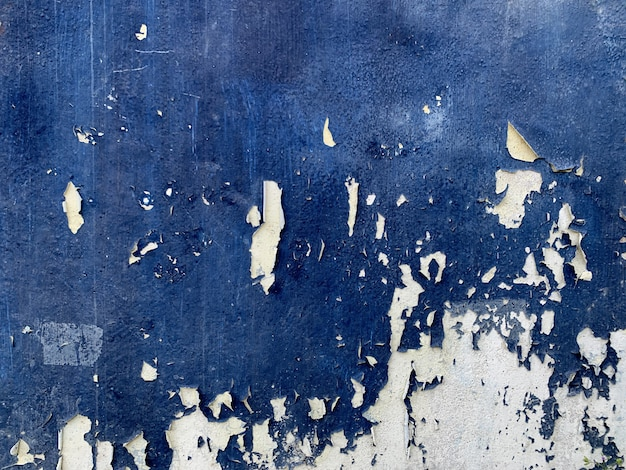 Abstract blue color wall texture background Premium Photo