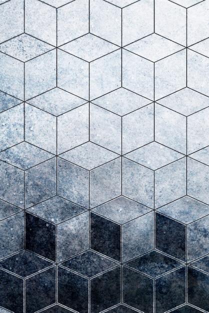 Cubo blu astratto modellato Foto Gratuite