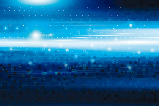 Abstract blue digital technology background Premium Photo