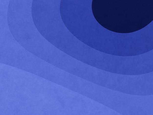 抽象的な青いグラフィック輪郭の背景 Premium写真