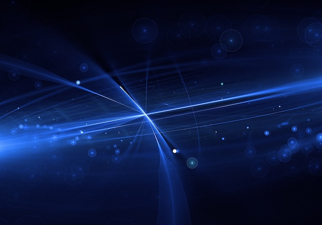 Abstract blue lens flare background Free Photo
