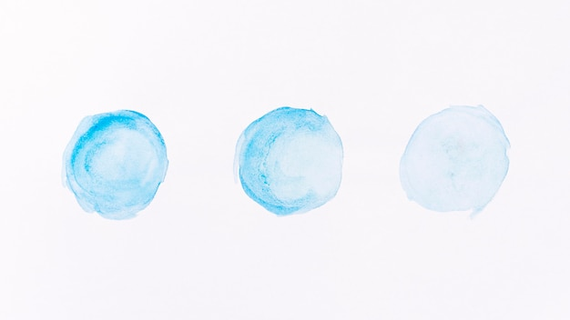 抽象的な青い月形水彩 無料写真