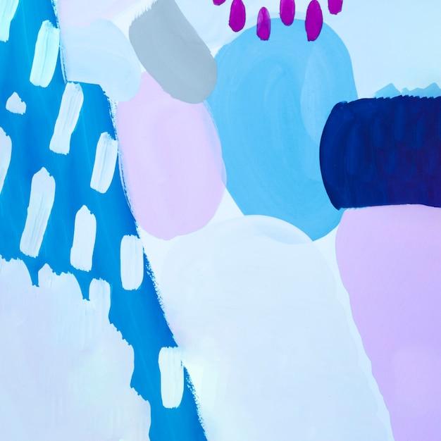 紫色のドットと抽象的な青い絵 無料写真