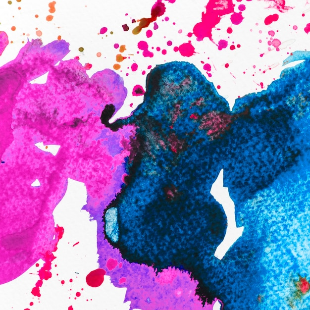 Abstract blue and pink watercolor stain background Free Photo