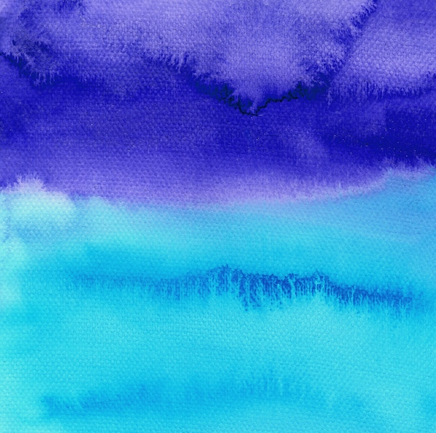 Abstract blue watercolor hand painted background. sky or ocean backdrop. Premium Photo