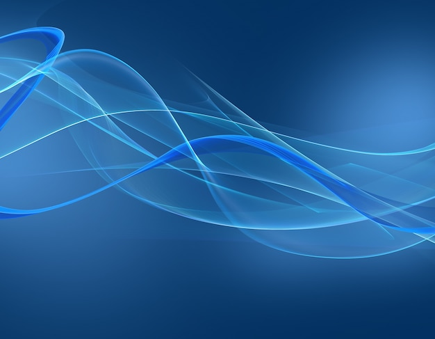 Abstract blue waves background Free Photo