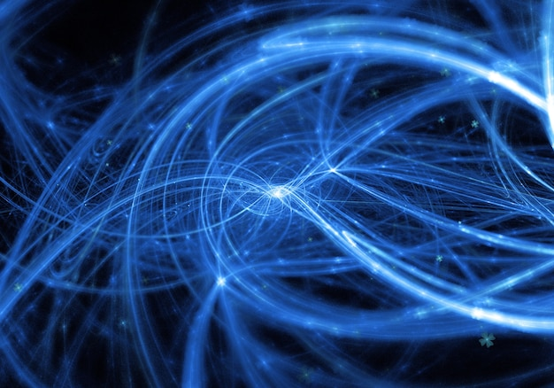 Abstract blue wavy lines background Free Photo