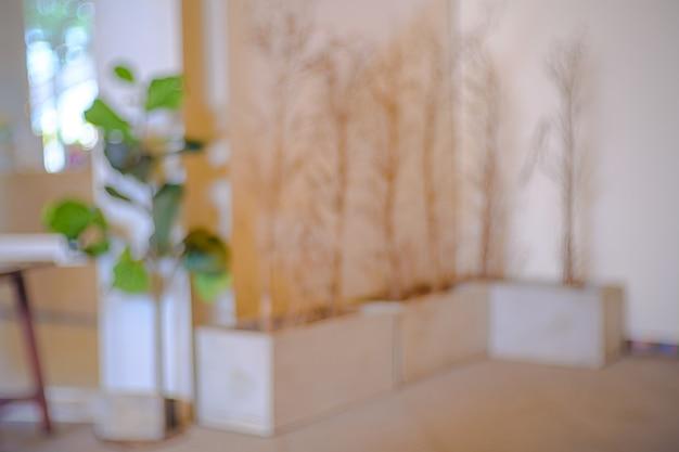 Абстрактное размытие и расфокусировка интерьер кафе или ресторана для фона. Premium Фотографии