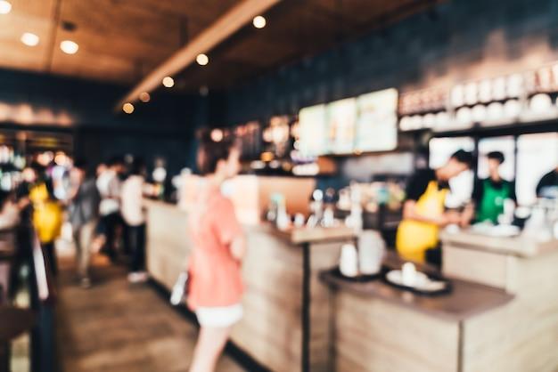 추상 흐림 및 Defocused 커피 숍과 카페 레스토랑 프리미엄 사진