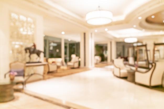 추상 흐림 및 Defocused 고급 호텔 로비 프리미엄 사진