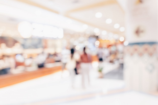 Abstract blur background crowd people in shopping mall Premium Photo
