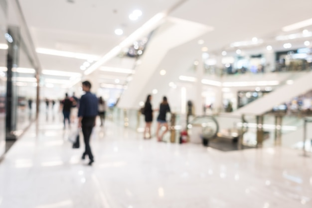 Abstract blur beautiful luxury shopping mall and retails store Free Photo