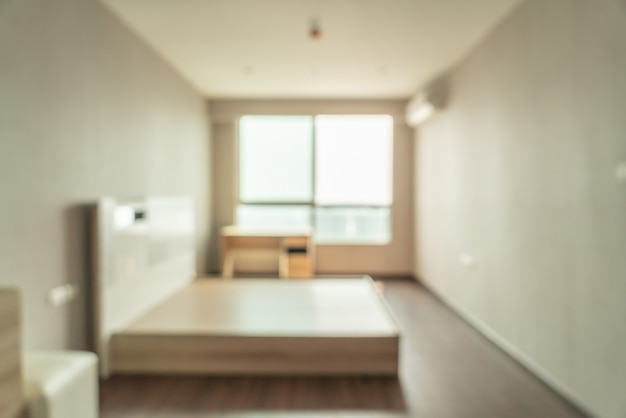 Abstract blur bedroom for background Premium Photo