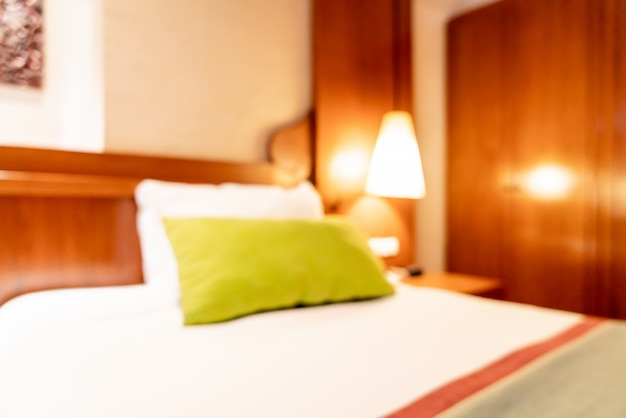 Abstract blur bedroom interior for background Premium Photo