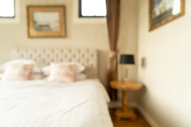 Abstract blur bedroom interior for Premium Photo