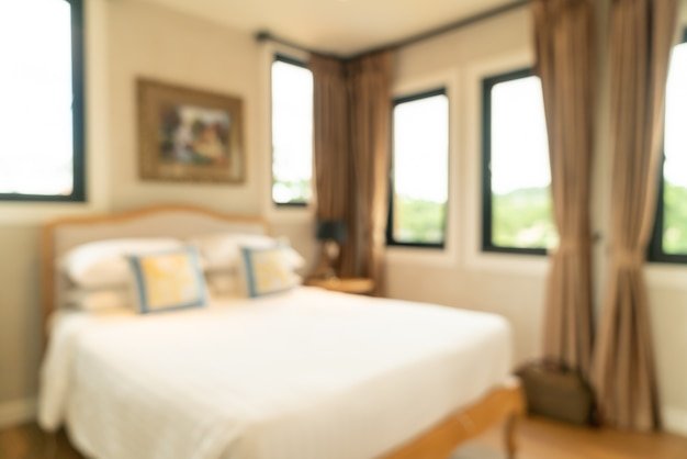 Abstract blur bedroom interior Premium Photo