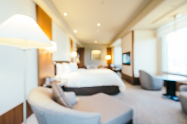 Abstract blur bedroom and living area interior, blurred photo background Free Photo